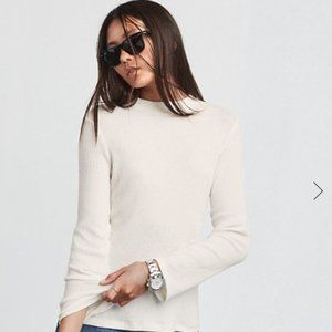 Reformation Murich Ivory Knit Sweater Top Blouse